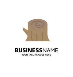 Log wood wooden spring business logo template vector