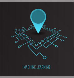 Machine learning geo mark vector