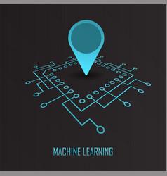machine learning geo mark vector image