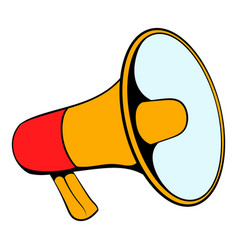 Megaphone icon cartoon vector