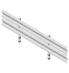 Metal road fence isometric vector