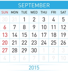 Monthly calendar vector image