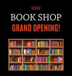 New book shop grand opening background vector