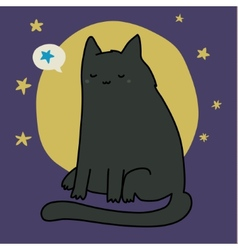 Nice sleeping cat vector