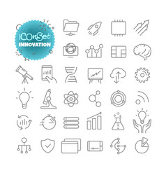 Outline icon set pictograph set innovation vector