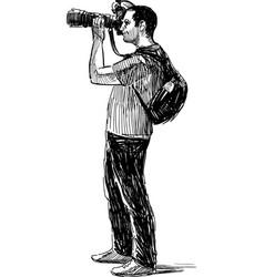 photographer shooting vector image