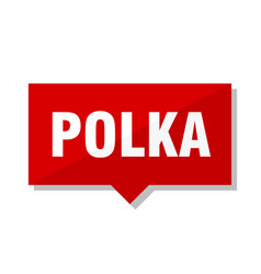polka red tag vector image