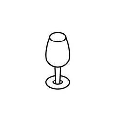 red wine goblet icon can be used for web logo vector image