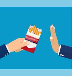 reject cigarette offer vector image