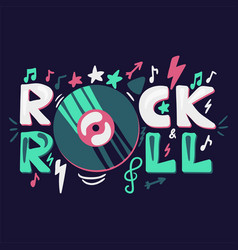 Rock and roll concept vector