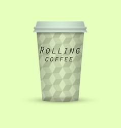 Rolling coffee take away vector