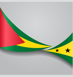 Sao tome and principe wavy flag vector