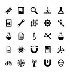 Science and technology glyph icons 8 vector