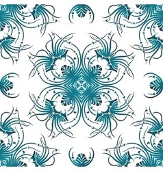 seamless pattern curl ornament vector image