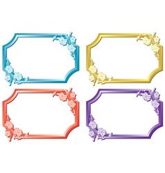 set of floral color frames vector image