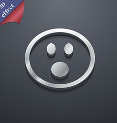 Shocked Face Smiley icon symbol 3D style Trendy vector