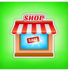 Shop icon Sale vector image
