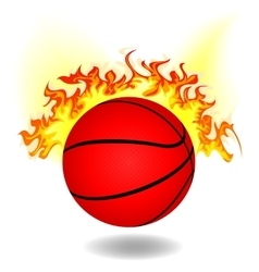 simple burning basketball vector image