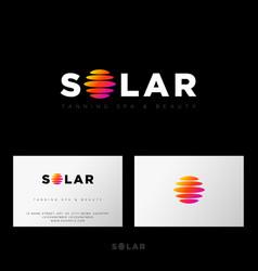 Solar logo photo studio equipment emblem web ui vector