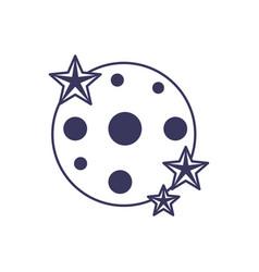 stars astrology moon line image vector image