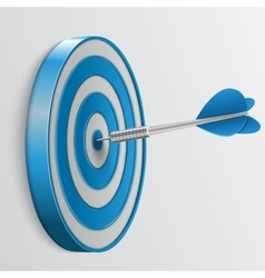 Target with darts 3d icon vector image