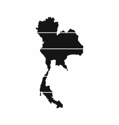 Thailand map icon simple style vector