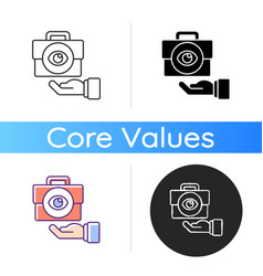 Transparent icon vector