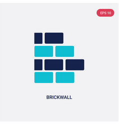 two color brickwall icon from construction vector image