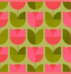 Ute vintage geometric floral seamless pattern vector