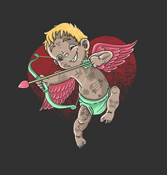 valentine character cupid cute angel love vector image