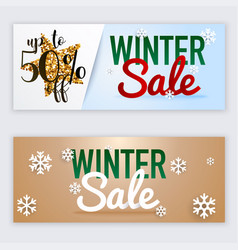 winter sale website banners web template can be vector image
