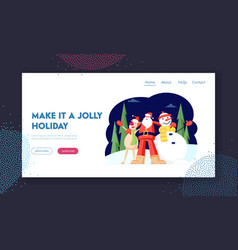 winter season holidays website landing page vector image