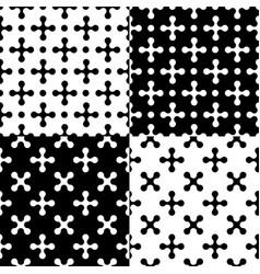 x-shape patterns vector image