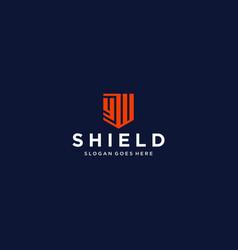 Yw shield logo vector