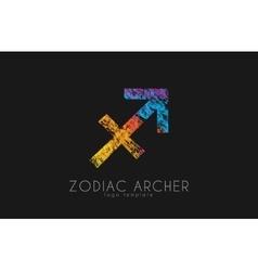 Zodiac archer logo color logo vector