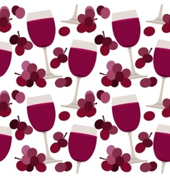 seamless pattern with wine glasses vector image vector image