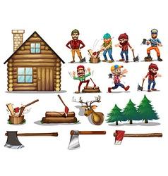 set of lumber vector image vector image