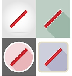 stationery flat icons 04 vector image
