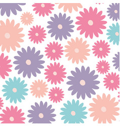 White background with colorful pattern of daisy vector