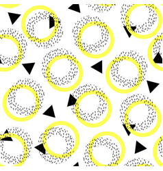 abstract seamless pattern in the style of memphis vector image