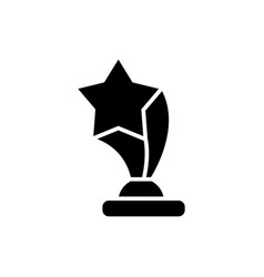 award cup with star icon vector image