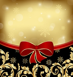 Christmas holiday ornamental decoration for design vector image