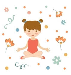 Cute yoga girl vector image vector image