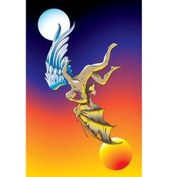 fallen angel vector image vector image