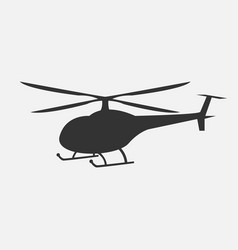 helicopter in monochrome vector image
