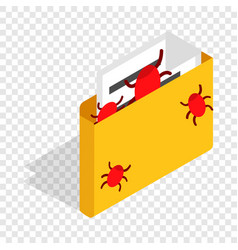 infected email isometric icon vector image