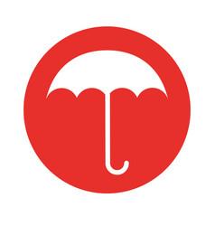 round icon umbrella cartoon vector image