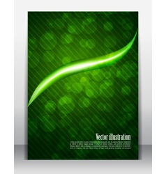 Bright green poster vector image