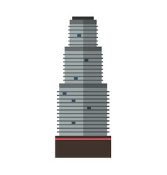 downtown skyscraper with skyline reflections on vector image