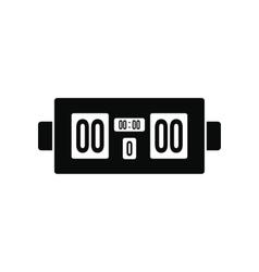 Scoreboard black simple icon vector